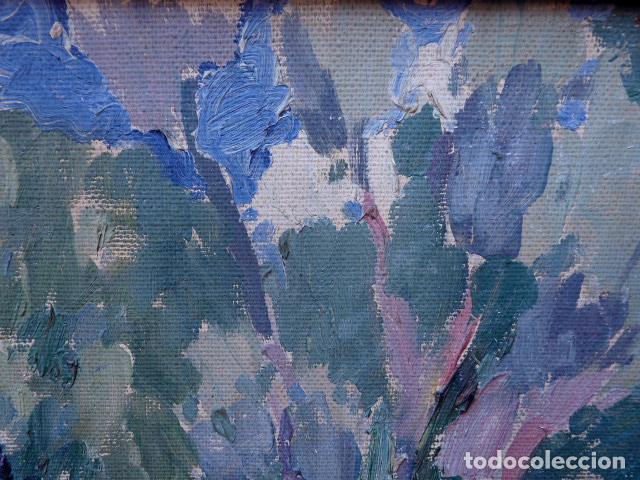 Arte: óleo sobre cartón.anónimo.escuela catalana. - Foto 10 - 104992863