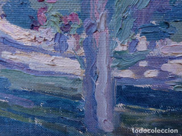 Arte: óleo sobre cartón.anónimo.escuela catalana. - Foto 11 - 104992863