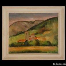 Arte: PUEBLO , PRECIOSO CUADRO DE EUGENIO RINCÓN, BILBAO-BURGOS.. Lote 105045531