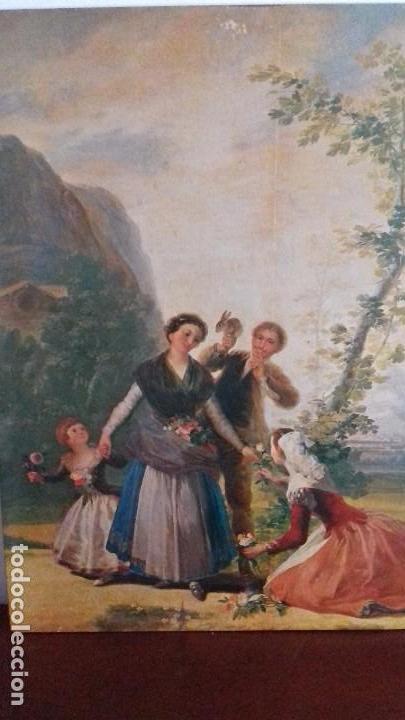 Arte: Serie de 4 cuadros reproduccion pinturas goya. Gran tamaño - Foto 2 - 105086239