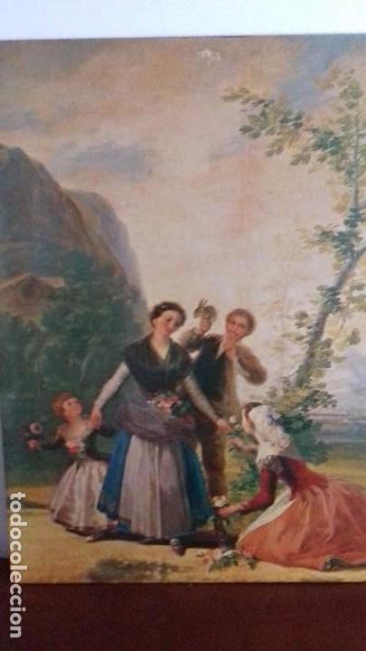 Arte: Serie de 4 cuadros reproduccion pinturas goya. Gran tamaño - Foto 8 - 105086239
