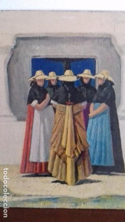 Arte: Serie de 4 cuadros reproduccion pinturas goya. Gran tamaño - Foto 14 - 105086239