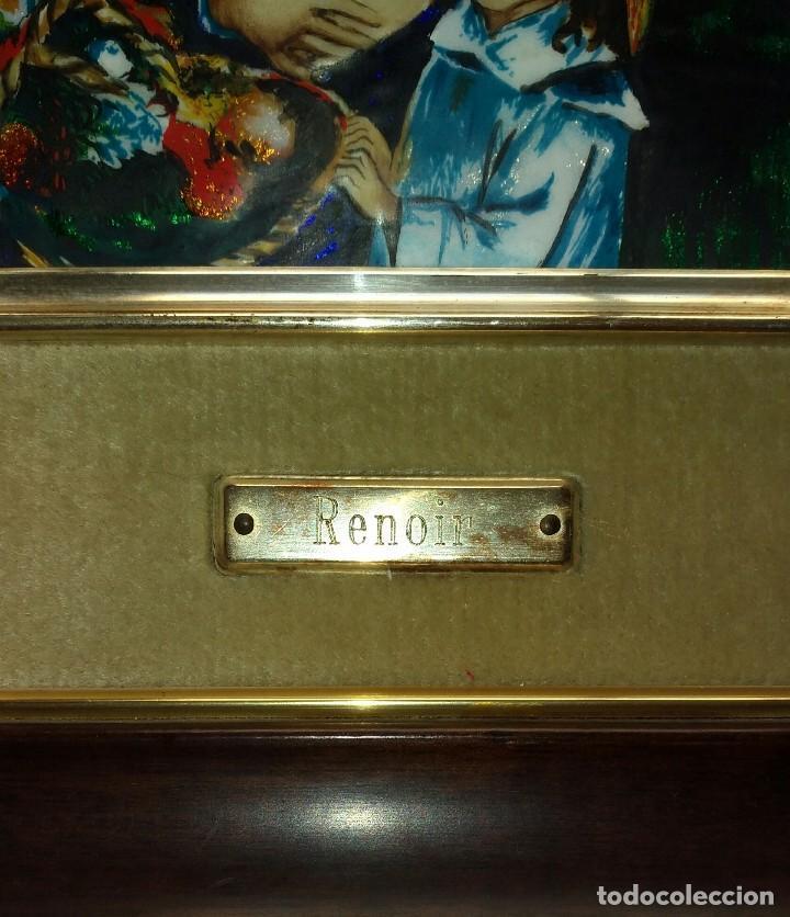Arte: Renoir. Reproducción en esmalte del famoso cuadro, Dos hermanas en la terraza. - Foto 4 - 105114187