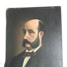 Arte: AUTORETRATO HOMBRE, ÓLEO SOBRE CARTÓN FIRMADO A. BOY AÑO 1875. MED. 16,50 X 21,50 CM. Lote 105136007