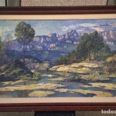 Arte: ISIDRE ODENA I DAURA (1910-2008) - MACIZO DE MONTSERRAT DESDE VACARISAS. Lote 105215111
