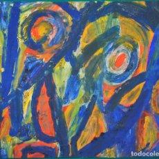 Arte: MORTIMER - MARITA VERRES-MUCKEL , ACRILICO SOBRE CARTON , 1969. Lote 105252011