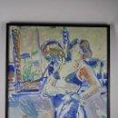 Arte: B4-034. NOIA EN BLAUS. OLEO SOBRE LIENZO. ANTONI MUNILL I PUIG. 1976.. Lote 161091512