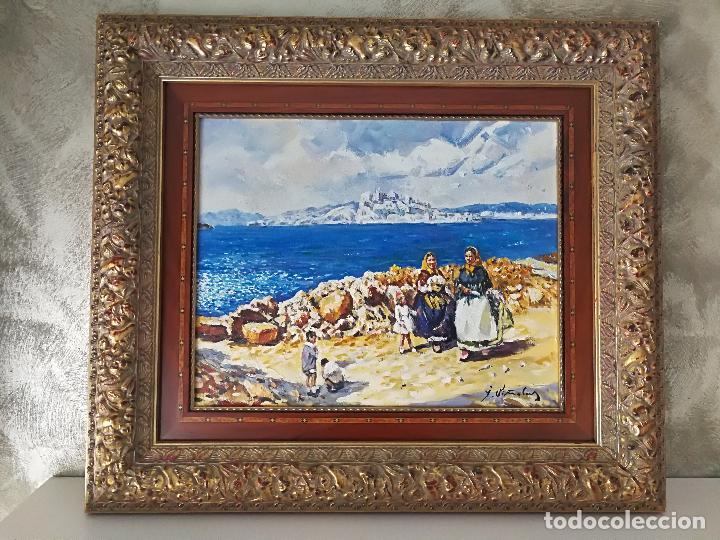 PINTURA PAISAJE MARINA AL ÓLEO SOBRE LIENZO FIRMADA VIÑOLAS (Arte - Pintura - Pintura al Óleo Contemporánea )