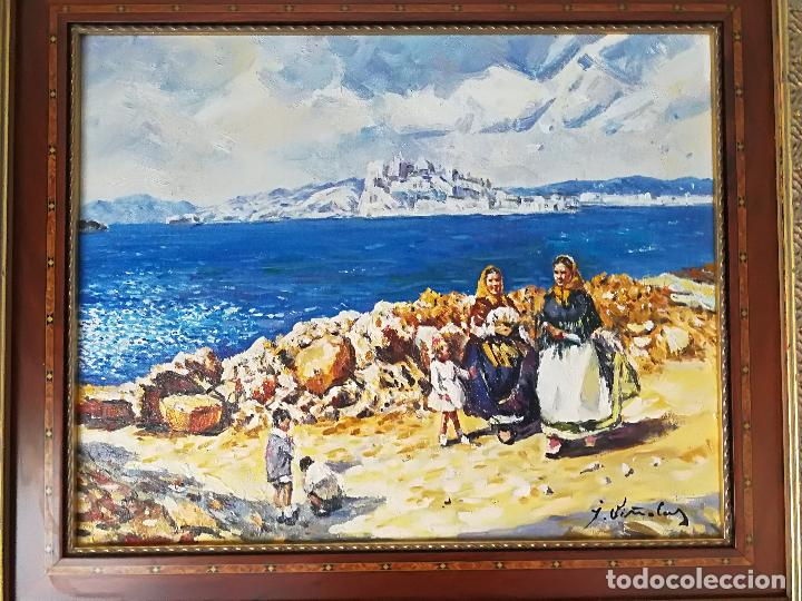 Arte: PINTURA PAISAJE MARINA AL ÓLEO SOBRE LIENZO FIRMADA VIÑOLAS - Foto 2 - 105257039