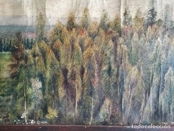 Arte: PINTURA AL OLEO PAISAJE MARCO ANTIGUO - Foto 6 - 105261779