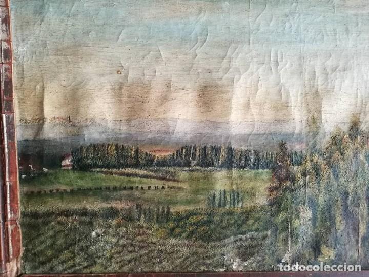 Arte: PINTURA AL OLEO PAISAJE MARCO ANTIGUO - Foto 7 - 105261779