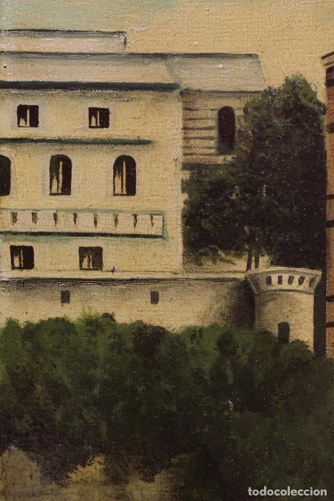 Arte: Pintura óleo sobre lienzo firmada paisaje con barcos - Foto 14 - 105271367