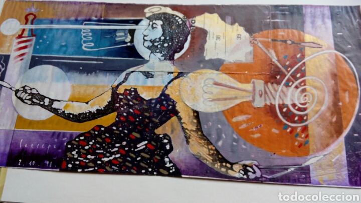 CEESEPE OBRA ORIGINAL, COMPOSICION TECNICA MIXTA Y COLLAGE 27X55 (Arte - Pintura - Pintura al Óleo Contemporánea )