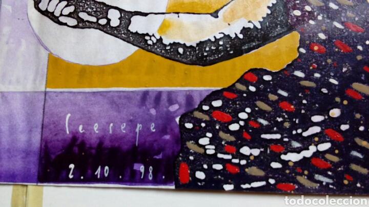 Arte: Ceesepe obra original, composicion tecnica mixta y collage 27x55 - Foto 2 - 105354016