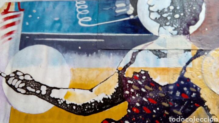 Arte: Ceesepe obra original, composicion tecnica mixta y collage 27x55 - Foto 3 - 105354016