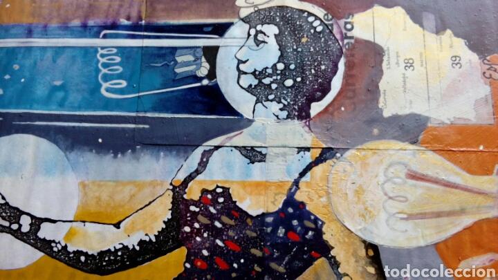 Arte: Ceesepe obra original, composicion tecnica mixta y collage 27x55 - Foto 4 - 105354016