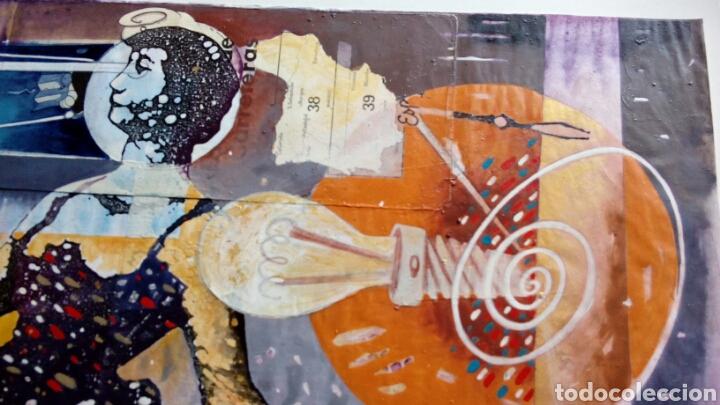 Arte: Ceesepe obra original, composicion tecnica mixta y collage 27x55 - Foto 5 - 105354016