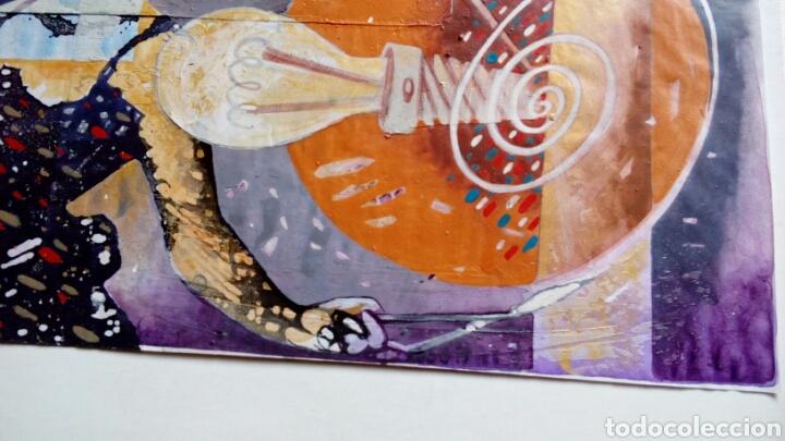 Arte: Ceesepe obra original, composicion tecnica mixta y collage 27x55 - Foto 6 - 105354016