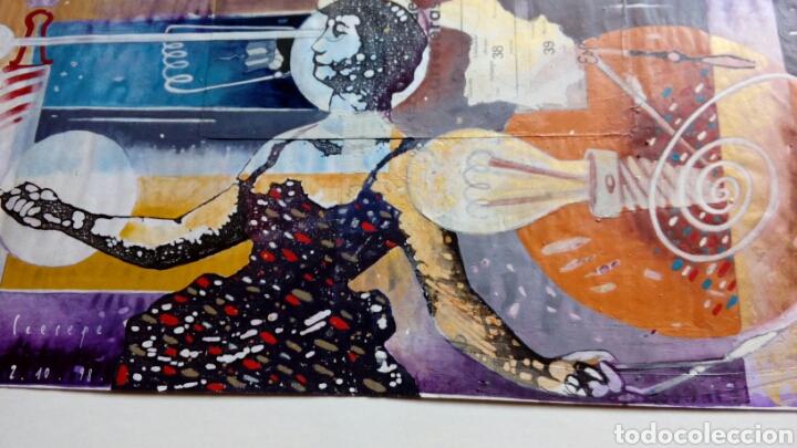 Arte: Ceesepe obra original, composicion tecnica mixta y collage 27x55 - Foto 7 - 105354016