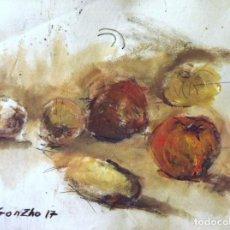 Arte: GONZHO -MANZANA CON PATATAS Y CEBOLLAS-. Lote 105380231