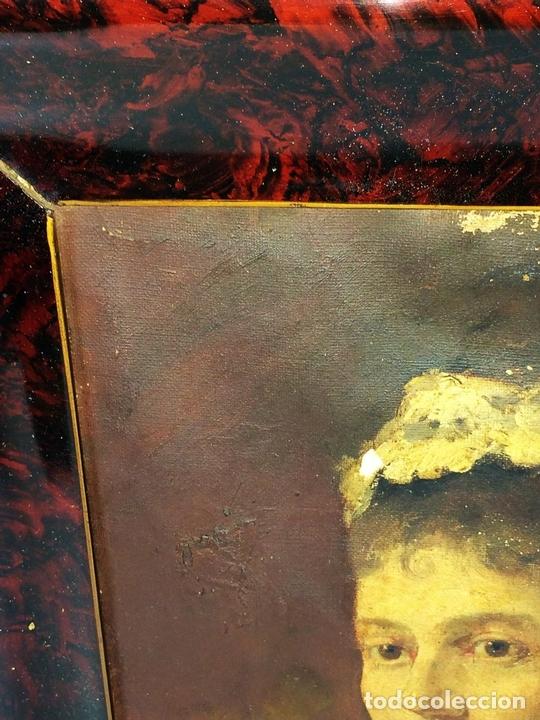 Arte: RETRATO DE DAMA. ÓLEO SOBRE LIENZO. FIRMADO MARQUES (GARCIA) ESPAÑA. FIN XIX - Foto 10 - 105422159