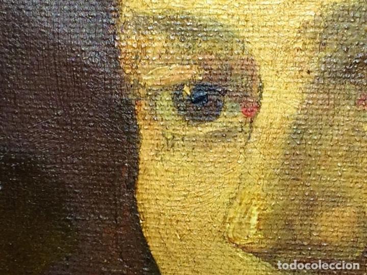 Arte: RETRATO DE DAMA. ÓLEO SOBRE LIENZO. FIRMADO MARQUES (GARCIA) ESPAÑA. FIN XIX - Foto 15 - 105422159