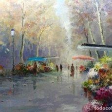 Arte: PINTURA FIGURATIVA CON PAISAJE URBANO (55X46CM) FIRMADA POR SMITH. Lote 105449719