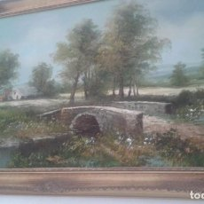Arte: STUNNING OIL ON CANVAS 1950S COUNTRY SCENE. Lote 105453615