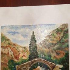 Arte: CUADRO PINTADO AL OLEO - SIN MARCO -DE MEDIDAS 55 CTMS DE ALTO X 46 CTMS ANCHO- FIRMADO -. Lote 105462675