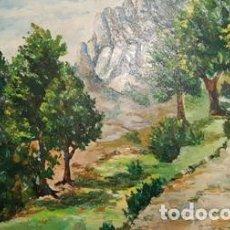 Arte: CUADRO PINTADO AL OLEO - SIN MARCO -DE MEDIDAS 55 CTMS DE ALTO X 46 CTMS ANCHO- FIRMADO -. Lote 105463279