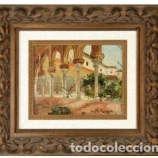 Arte: JOSE MONTENEGRO. ARQUERÍA. OLEO SOBRE TABLA DE 24X20.. Lote 105549331