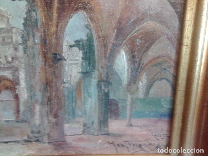 Arte: JOSE MONTENEGRO. CARTUJA DE JEREZ. OLEO SOBRE LIENZO DE 40X24.. - Foto 14 - 105599531