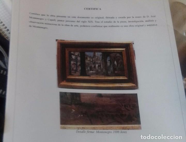 Arte: JOSE MONTENEGRO. CARTUJA DE JEREZ. OLEO SOBRE LIENZO DE 40X24.. - Foto 16 - 105599531