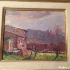 Arte: ANGEL CODINACH (OLOT 1922-GIRONA 1995), PAISAJE AL ÓLEO SOBRE TABLA, FIRMADO Y ENMARCADO. Lote 105834747