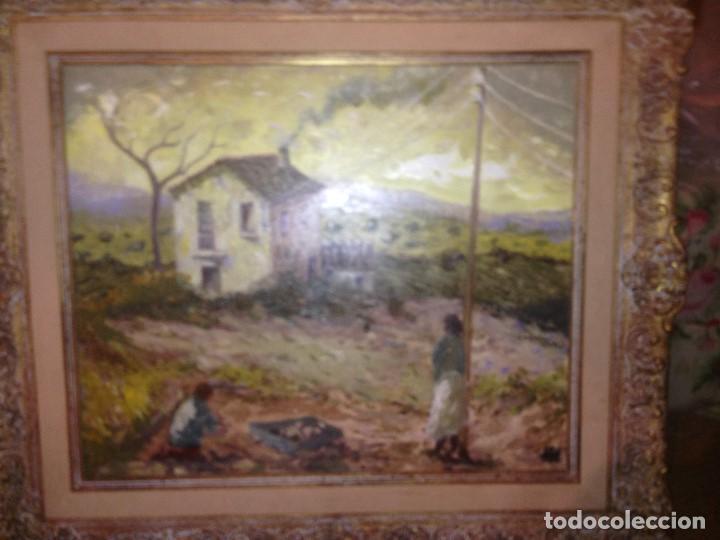 TRULLS PONS, ANTONI (1925-2009), PAISAJE AL ÓLEO ENMARCADO FIRMADO, FECHADO Y TITULADO, GRAN FORMATO (Arte - Pintura - Pintura al Óleo Contemporánea )