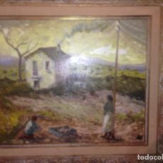 Arte: TRULLS PONS, ANTONI (1925-2009), PAISAJE AL ÓLEO ENMARCADO FIRMADO, FECHADO Y TITULADO, GRAN FORMATO. Lote 105841339