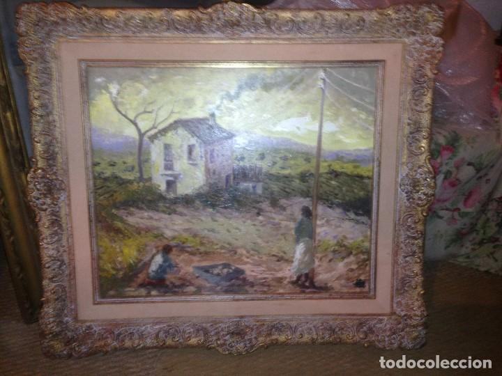 Arte: Trulls Pons, Antoni (1925-2009), Paisaje al óleo enmarcado firmado, fechado y titulado, gran formato - Foto 3 - 105841339