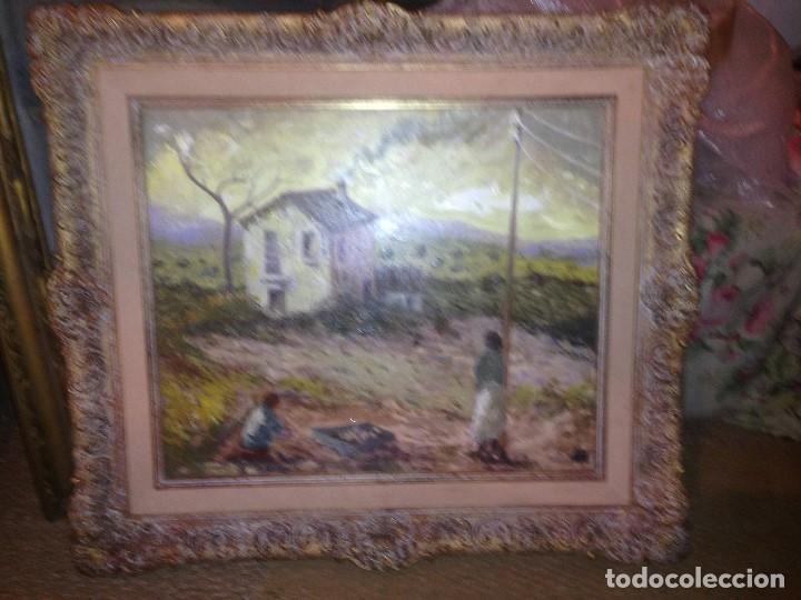 Arte: Trulls Pons, Antoni (1925-2009), Paisaje al óleo enmarcado firmado, fechado y titulado, gran formato - Foto 4 - 105841339