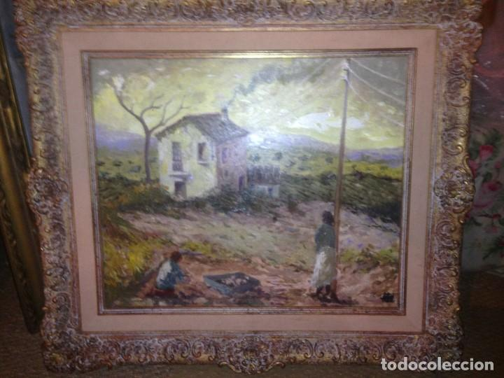 Arte: Trulls Pons, Antoni (1925-2009), Paisaje al óleo enmarcado firmado, fechado y titulado, gran formato - Foto 5 - 105841339