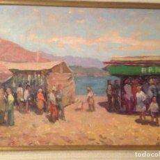 Arte: SEBASTIÀ CONGOST PLA (1919-2009) ESCUELA DE OLOT, PAISAJE ORIGINAL AL ÓLEO, FIRMADO Y ENMARCADO. Lote 105842959