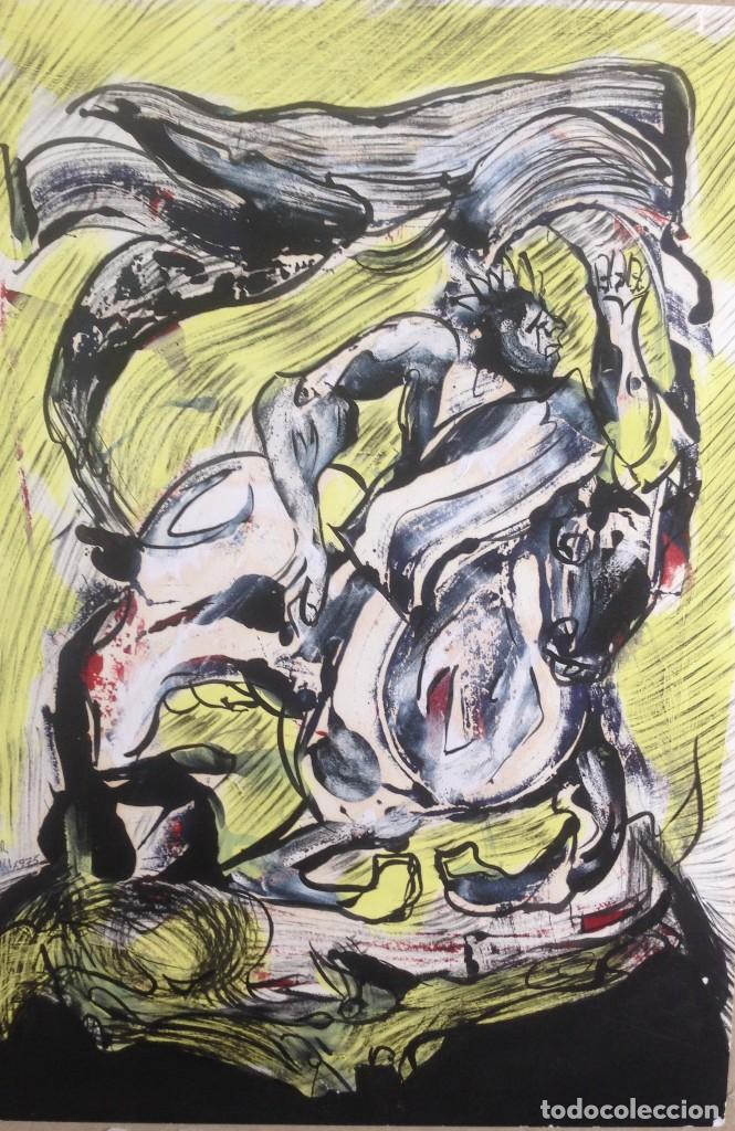 EL CAVALLERO (Arte - Pintura Directa del Autor)