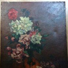 Arte: ANTIGUO ÓLEO CON NATURALEZA MUERTA FIRMADO Y FECHADO EN 1918. Lote 105460347