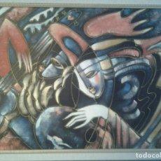 Arte: PINTURA FIRMADA POR UN GENIO DEL ARTE ABSTRACTO. RYSTRON.UNA OBRA UNICA. Lote 106547767