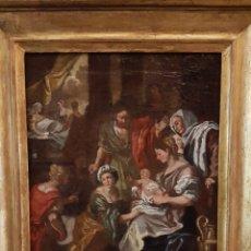 Arte: EL NACIMIENTO DE LA VIRGEN. ESCUELA MADRILEÑA S.XVIII. Lote 106556364