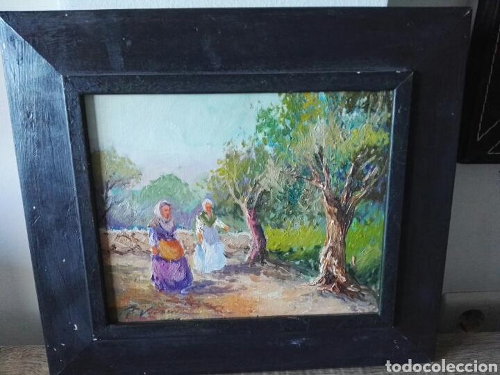PINTURA OLEO SOBRE LIENZO N VERACRUZ TITULO OLIVOS (Arte - Pintura Directa del Autor)