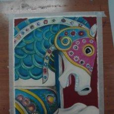 Arte: CABALLO DE FERIA - CABALLITO - OBRA DE ARTE ACRILICO ESCUELA DE ALICANTE - ORIGINAL. Lote 106635271