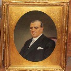 Arte: RAMÓN CORTÉS CASANOVAS (TERRASSA, 1906 - 1977) OLEO SOBRE TELA. RETRATO MASCULINO. Lote 106680623