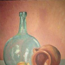Kunst - ANTIGUA PINTURA BODEGON OLEO PINTADO EN CARTON - 106031155