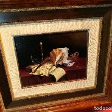 Arte: OLEO DE AUTOR,,FIRMADO ILEGIBLE POR MI ---A CATALOGAR---BIEN ENMARCADO (REF-1AC-09). Lote 107189603