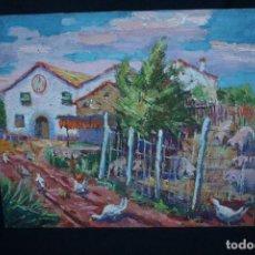 Arte: JOSEP NICOLAS, OLEO SOBRE LIENZO, TITULADO, CAN CROSTA, PARETS DEL VALLES 1986. Lote 107320311